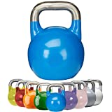 GORILLA SPORTS Kettlebell Competition 8-40 kg Stahl - Wettkampf Kugelhantel in 8 Gewichtsvarianten / Farben