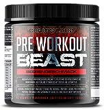 Pre Workout Beast - Hardcore Pre Workout Booster mit Koffein, Kreatin Monohydrat, Beta Alanin und Glutamin