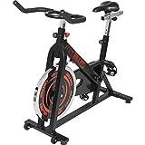 GORILLA SPORTS Indoor Cycling Bike mit 13 kg Schwungrad - Profi-Heimtrainer Fahrrad für Zuhause bis 110 kg belastbar