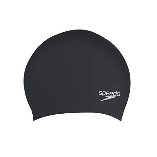 Speedo Erwachsene für Lange Haare Swim Caps, Schwarz, One Size