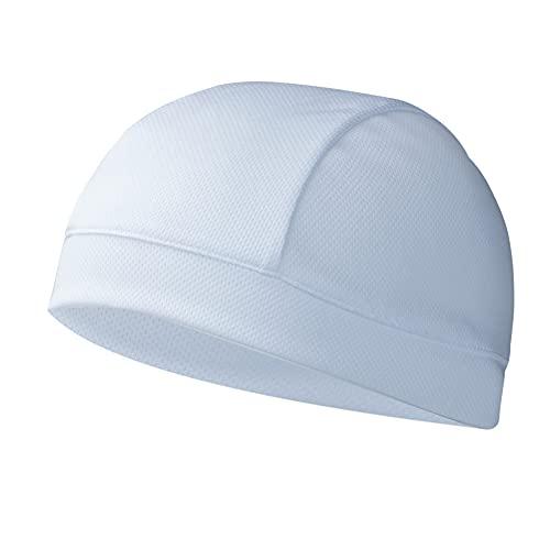 Tofern Skull Cap Unterziehmütze Helmmütze Winddicht atmungsaktiv Sommer Polyester (Weiß)