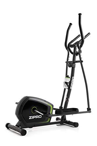 Zipro Erwachsene Magnetischer Crosstrainer Neon bis 120kg, Schwarz, One Size, einheitsgröße