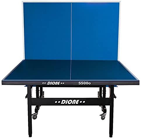 Dione Tischtennistisch S500o - 6mm top - Outdoor Klapp - Rollbar Tischtennisplatte für draußen - Wetterfeste TT-Tisch 60kg - 10 Minuten Installation