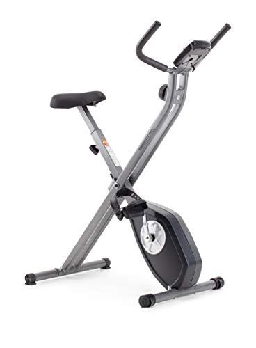 CADENCE Unisex SMARTFIT 100 Faltbares Fitnessfahrrad, Schwarz und Silber