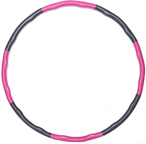 KOVEBBLE Hula Hoop Reifen für Erwachsene und Kinder, Hoola Hoop Reifen zur Fitnessübungen, Gewichtsabnahme, Bauchformung und Massage… (Rose)