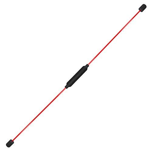 Best Sporting Swing Stick Fitness Schwingstab für Ganzkörpertraining, mit Trainingsanleitung, Farbe: rot
