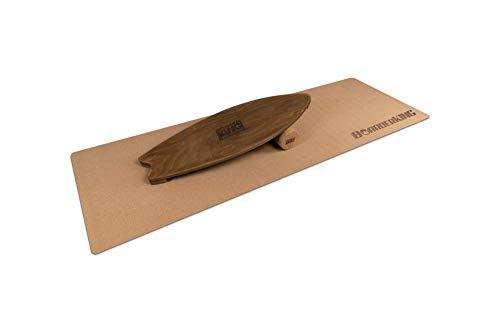 Indoorboard Wave Set Balance Board Skateboard Surfboard Balanceboard (Walnut, 150 mm x 45 cm (Ø x L))