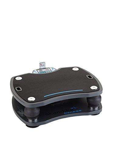 skandika Vibrationsplatte 500 3D Vibration | große rutschsichere Fläche | 4 Programme + 20 Stufen | Fitness Von Zuhause | Inkl. Trainingsbänder, Fernbedienung + Poster | Fitness von Zuhause