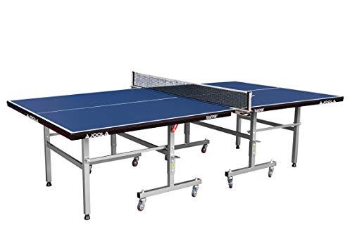 JOOLA Tischtennistisch Transport Indoor Tischtennisplatte Schul-und Vereinssport-Transportsystem-Schneller Aufbau, Blue, 19 MM Plattenstärke