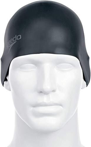 Speedo Unisex Badekappe Plain Moulded Silicone, black, one size, 8-709849097