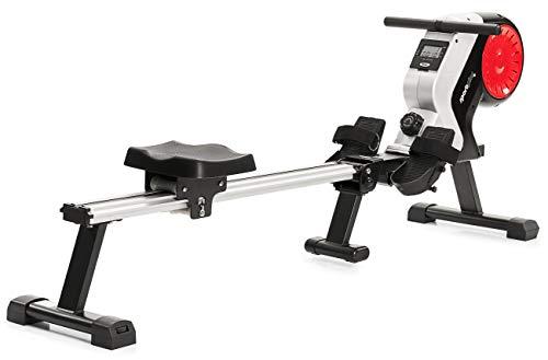 SportPlus Rudergerät klappbar für zuhause - 8 Stufen, leises & wartungsfreies Magnetbremssystem, kugelgelagerter Rudersitz, Rudermaschine mit Trainingscomputer, TÜV-geprüft, SP-MR-020