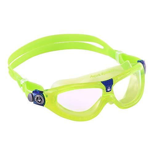 Aqua Sphere Unisex-Youth Seal Kid 2 Schwimmmaske, grün/transparentes Glas, Einheitsgröße