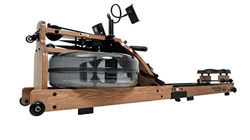 Miweba Sports Wasser-Rudergerät MR700 - Echtholz-Rudermaschine - Klappbar Wasserwiderstand & -Tank - LCD-Display (Esche dunkel)