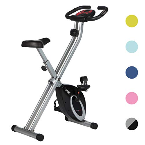 Ultrasport Heimtrainer F-Bike Advanced, LCD-Display, klappbarer Hometrainer, verstellbare Widerstandsstufen, mit Handpulssensoren, faltbarer Fahrradtrainer, für Sportler und Senioren