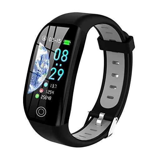 Tipmant Fitness Armband mit Pulsmesser Blutdruckmessung Smartwatch Fitness Tracker Wasserdicht IP68 Fitness Uhr Schrittzähler Pulsuhr Sportuhr für Damen Herren Kinder Schwarz