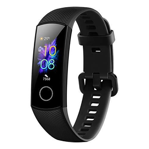 Honor Band 5 wasserdichter Bluetooth Fitness Aktivitätstracker mit Herzfrequenzmesser, AMOLED-Farbdisplay, Touchscreen, Meteorite Black