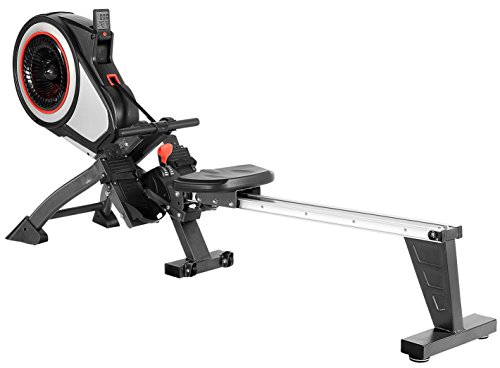 SportPlus Turbine Rower Rudermaschine, bis 150 kg Benutzergewicht, klappbar, EN ISO 20957 geprüft, SP-MR-010