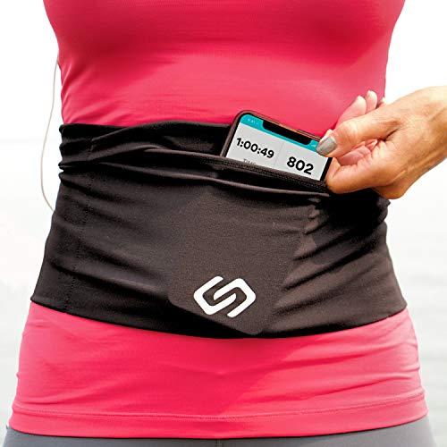 Sporteer Versaflex Hüfttaschen, Laufgürtel, Reisen Geld und Reisepass Gürtel - Passt Große Handys und Persönliche Gegenstände (Large)