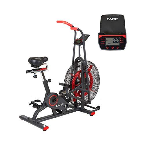 CARE FITNESS – Heimtrainer CT-150 – Air Bike – bewegliche Griffe – für Arbeit Simultaner Unter- und Oberkörper – bequemer Sattel – Heimtrainer Care mit Luftrad