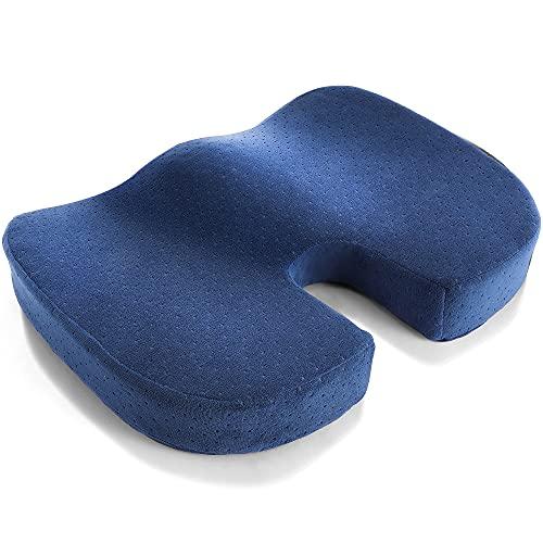 Ergonomisches Sitzkissen mit Gel, Orthopädisches Sitzkissen, Memory Foam Sitzkissen für Bürostuhl, Atmungsaktives Stuhlkissen für Home, Rollstuhl & Auto, Lässt Steißbein schweben Erhöhen Sitzkomfort