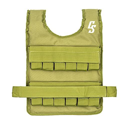 Capital Sports Monstervest Gewichtsweste, Metallgewichte 20 kg, Material: Nylon, Uni-Sex & -Größe, gepolstert, grün