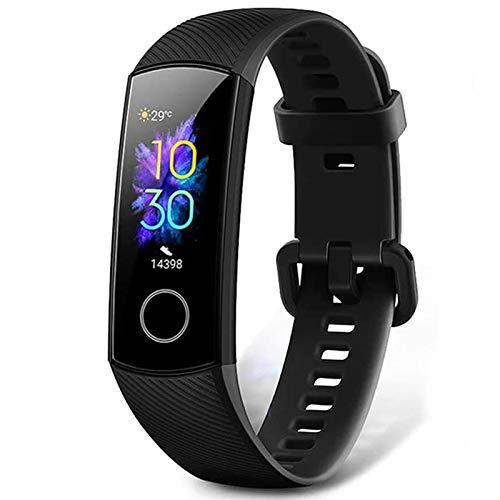 HONOR Band 5 Fitness Armband Fitness Tracker mit SpO2 Pulsmesser, IP68 Wasserdicht Pulsuhren Aktivitätstracker Schrittzähler Schrittzähler Uhr Herren- und Damen Smartwatch, Schwarz