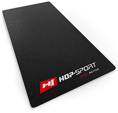 Hop-Sport Bodenschutzmatte aus PVC 0,6mm Dicke Unterleg und Schutzmatte für Fitness & Sportgeräte in DREI Größen zur Auswahl 120x60cm