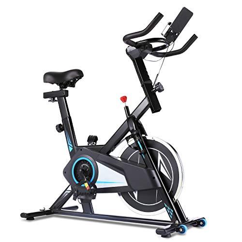 ANCHEER Ergometer Heimtrainer Fahrrad, Heim Sitzfahrrad F-Bike Testsieger,Multifunktionaler Beintrainer X-Bike Fahrradtrainer,Cyclette mit APP-Steuerung, Herzfrequenz, LCD Monitor (schwarz)