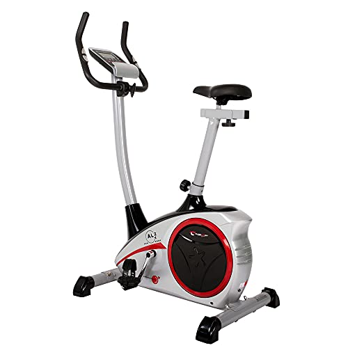 Christopeit Sport Heimtrainer AL 2 Silber - 24-Stufig, bis 150kg Gewicht, 9kg Magnet-Bremssystem, LCD-Display