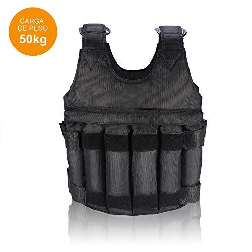 VGEBY1 Gewichtsweste, 50KG Verstellbare Krafttraining Weight Vest Trainingsweste Training Fitness Sport Jacke Jacket für Herren Damen Sand Weste Laufen Joggen (20KG) (50kg)