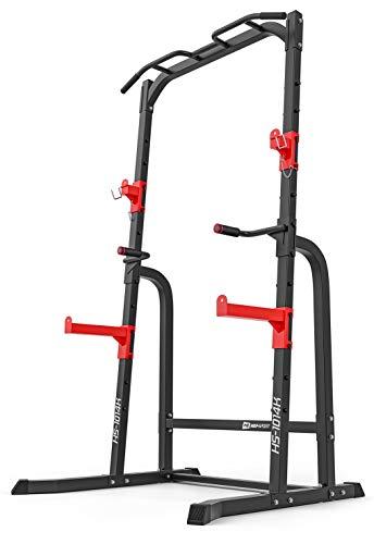 Hop-Sport Power Cage HS-1014K – multifunktionaler Kraftturm mit Squat Rack, Kniebeugenständer, Dip-Station und Klimmzugstange