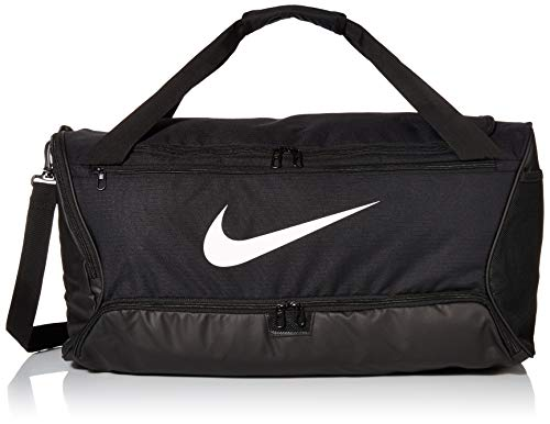 Nike Brasilia (Medium) Trainingstasche, Black/Black/White, 64 x 30 x 30 cm