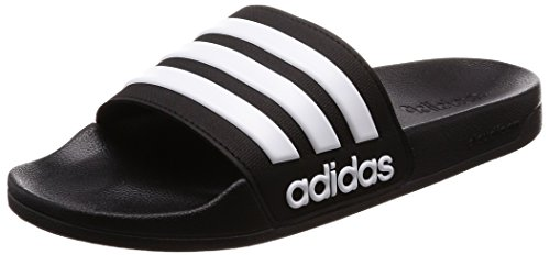 Adidas Adilette Shower, Herren Dusch- & Badeschuhe, Schwarz (Core Black/Footwear White/Core Black 0), 43 EU