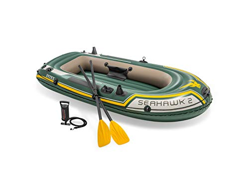 Intex Seahawk 2 Set Schlauchboot - 236 x 114 x 41 cm - 3-teilig - Grün