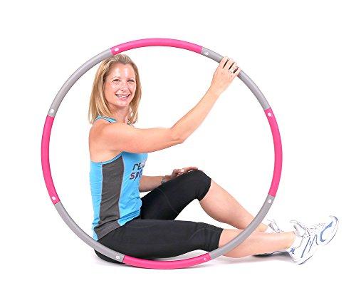 ResultSport® schaumgepolsterter Level 1 Hula Hoop Reifen für Fitnessübungen, mit 1,2 kg (2,65 lb) Gewicht und 100 cm Breit