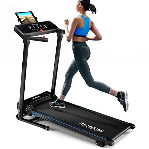 Kinetic Sports KST4600FX Laufband | 1100 Watt leiser Elektromotor | 12+1 Programme | bis 12 km/h | GEH- und Lauftraining | Tablethalterung | Steigung verstellbar | klappbar | bis 120kg