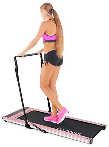 Miweba Sports elektrisches Laufband SlimWalk S200 - Intelligente Startautomatik - Ultraflache 9 cm - Große Lauffläche - Ultraleicht - Flach
