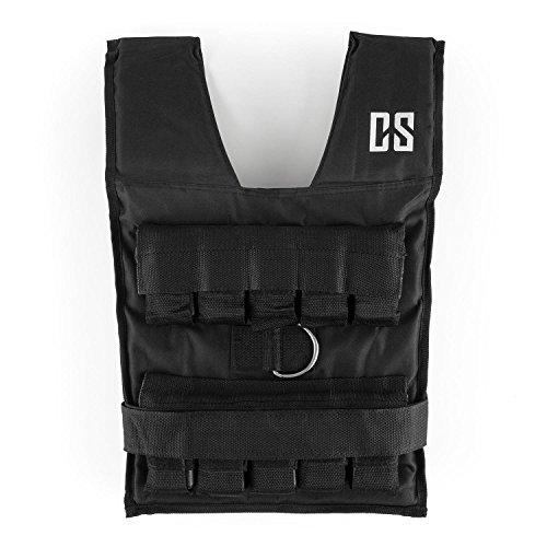 Capital Sports Monstervest Gewichtsweste - Weight Vest für Kraft- & Ausdauer-Training, verstellbare Trainingsweste, herausnehmbare Metall-Gewichte, 30 kg, schwarz