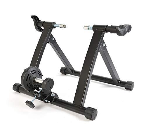 ROCKBROS Rollentrainer Fahrrad Heimtrainer mit Magnetgerät zur Einstellung der Höhe für 26-28'' Faltbar ca.135 kg belastbar Schwarz