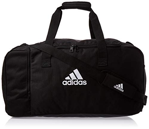 adidas Duffelbag Tiro M, Black/White, One Size, DQ1071