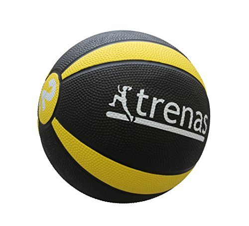trenas Gummimedizinball PRO - Der professionelle Medizinball - 2 KG