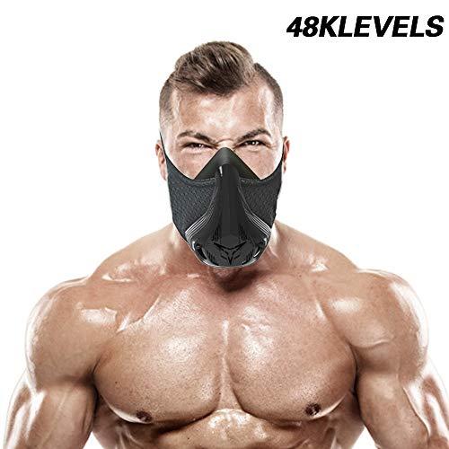 SevenAndEight Trainingsmaske 48 4.0 Atemwiderstandsstufen - Fitness-Maskentraining in Höhensimulation Erhöhen Sie die Ausdauer des Herzens