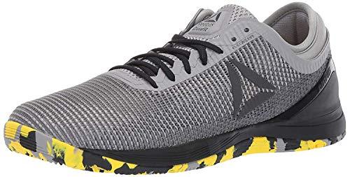 Reebok Herren Crossfit Nano 8.0 Flexweave Sneaker, (Hai/Dose grau/eschgrau/schwarz/gelb.), 38 EU