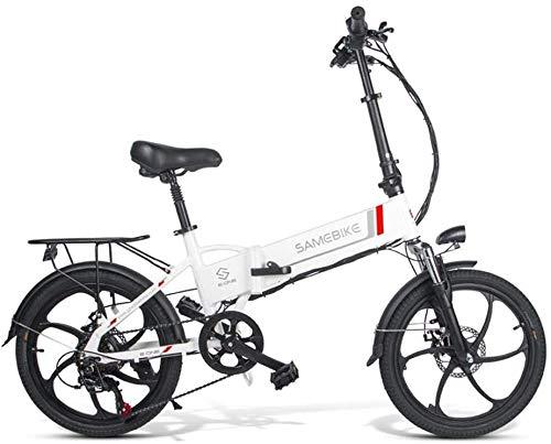 ANCHEER 20 Zoll E-Bike Pedelec, Faltbares Elektrofahrrad Elektrisches Fahrrad mit 48V 10.4Ah/ 36V 8AH Lithium Akku, Shimano 7-Gang Getriebe, 350W / 250W Motor (20' weiß-10.4Ah 350W)