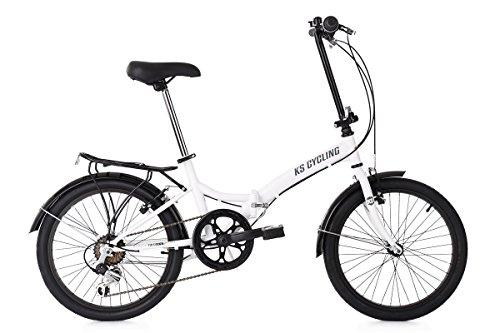 KS Cycling Faltrad 20'' Foldtech weiß 6Gänge