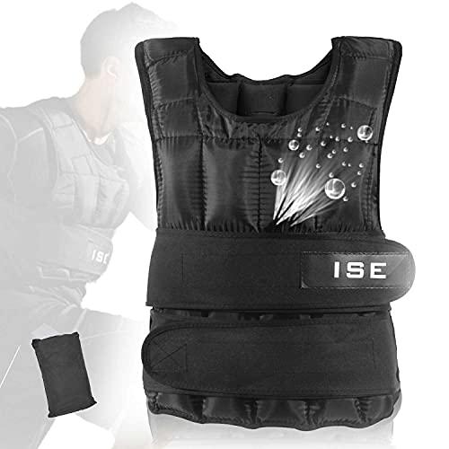 ISE 20 kg Gewichtsweste Warnwesten für Gewicht Training Krafttraining Übung