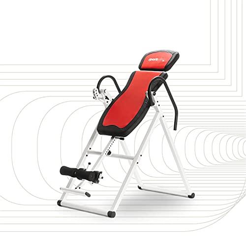 SportPlus SPINEFLEX Inversionsbank klappbar - Die Revolution im Home Office - Schwerkrafttrainer mit 4 Inversionswinkeln zur Entlastung der Wirbelsäule, TÜV-geprüfte Sicherheit bis 135 kg
