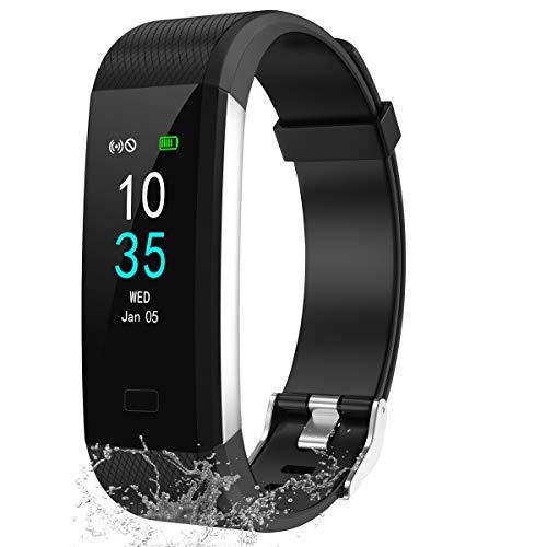 LEBEXY Fitness Armband Schrittzähler, Fitness Tracker mit Herzfrequenzmesser Blutdruckmessung Pulsuhr Kalorienzähler, IP68 Wasserdichter Smartwatch Fitness Uhr Sportuhr Aktivitätstracker