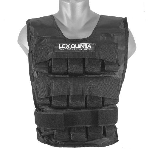 Lex Quinta Gewichtsweste Heavy Duty - 30 Kg - Trainingsweste mit Gewichten - 29 Einzelgewichte aus Gusseisen