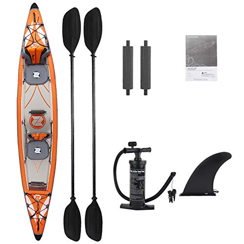 RHSMW Kajak, Aufblasbares Kajak Kanu Mit Paddel Und Luftpumpe Klappboot Geeignet Für Wassersportarten Ruderwettkampf Rafting